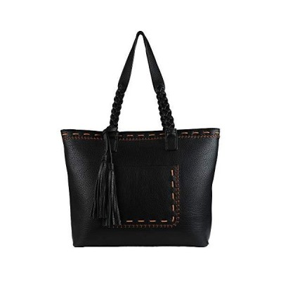 Concealed Carry Purse - Locking Cora Stitched Gun Tote by Lady Conceal (Black)【並行輸入品】