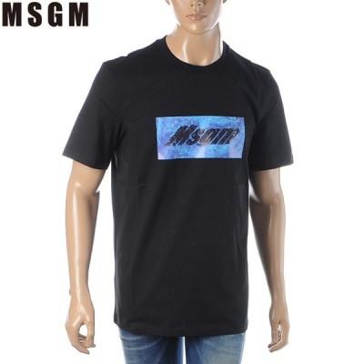 エムエスジーエム MSGM クルーネックTシャツ 半袖 メンズ 2840MM230 207098 ブラック