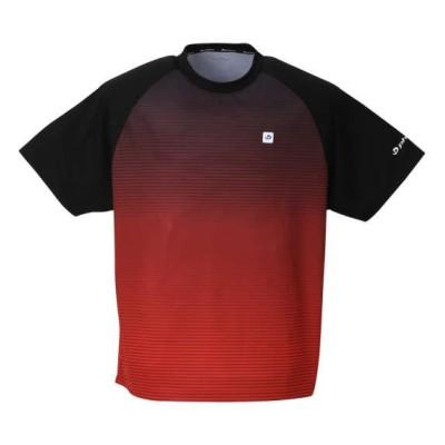 大きいサイズ メンズ Phiten DRYメッシュ 半袖 Tシャツ レッド 1278-0520-2 3L 4L 5L 6L 8L
