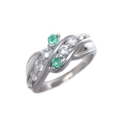 エメラルド 指輪 エタニティリング ダイヤモンド 5月誕生石K18ホワイトゴールド エメラルド ダイヤモンドリング 結婚 10周年【今だけ代引手数料無料】