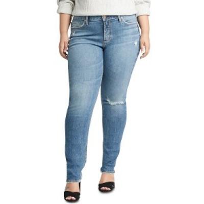シルバージーンズ レディース デニムパンツ ボトムス Plus Size Avery Ripped Slim-Leg Jeans Indigo