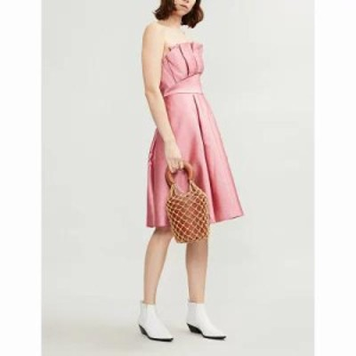 テッドベーカー パーティードレス pippaa pleated satin dress Coral