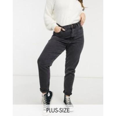 ニュールック レディース デニムパンツ ボトムス New Look Curve mom jean in black Black
