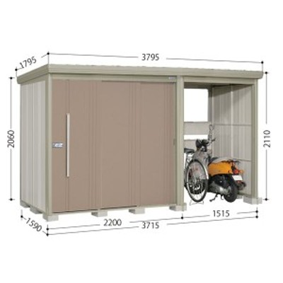 物置 屋外 おしゃれ タクボ物置 TP/ストックマンプラスアルファ TP-3715 一般型 標準屋根 『追加金