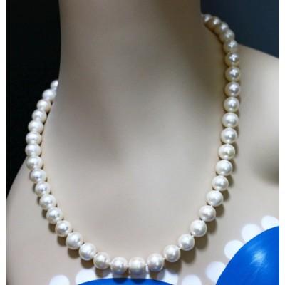 パールネックレス 冠婚葬祭 真珠 ゆったり50cm 大粒10mm 本真珠ネックレス&ピアスorイヤリングセット
