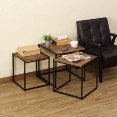 OAK・MWHのみのみ予約販売 ネストテーブル Dean ABR/OAK/MWH    家具 サイドテーブル