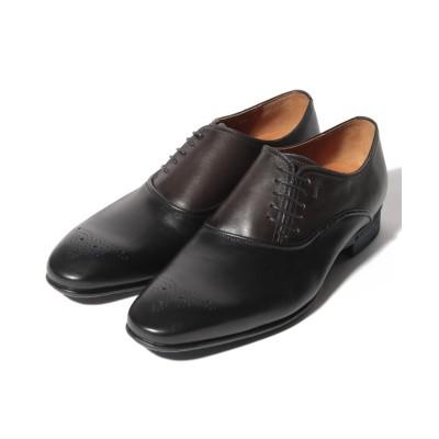 【クラウン製靴】 サイドレースシューズ メンズ ブラック 25.5 CROWN SHOE CO.、LTD.