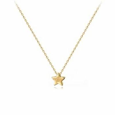 CITLED Women G Initial Necklace Gold Star Pendant Engraved Alphabet Letter 14K Gold Filled Lucky Trendy Dainty Chain Boho Beach