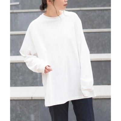 tシャツ Tシャツ 【MAISON BREEZE】オーバーサイズラグランロングTシャツ