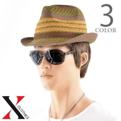 ハット 帽子 中折れ帽 中折れハット メンズ ペーパーハット ランダム ミックス ペーパー 春 夏 夏 中折 ストロー ストローハット 中折れ