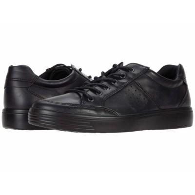 エコー スニーカー シューズ メンズ Soft Classic Lace Black Cow Leather