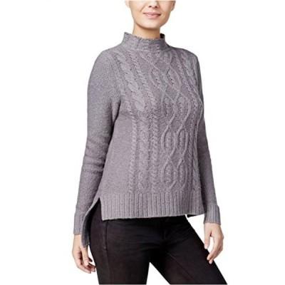 ケンジー レディース セーター(プルオーバー型) Kensie High-Low Cable Knit Sweater