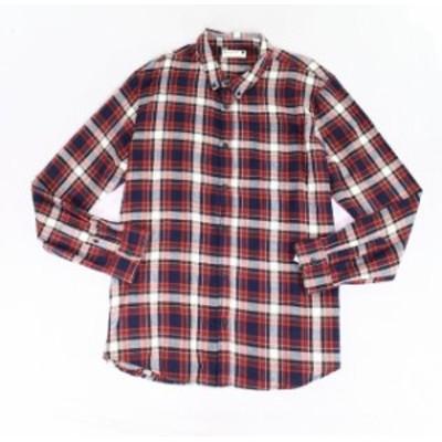 Plaid  ファッション アウター Retrofit NEW Red Mens Size 2XL Plaid Print Pocket Button Down Shirt
