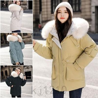 中綿ジャケットレディースブルゾン中綿コートダウンジャケットアウター冬防寒ダウンコートフード付き20代30代40代