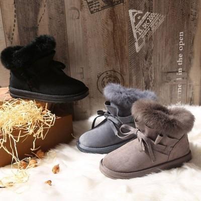 防寒 滑り防止 ブーツ 裏起毛 ボア 秋 冬 冬物 靴ムートン ブーツ ショート ブーツ ファー レディース スノーブーツ