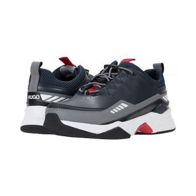 BOSS Hugo Boss ボス メンズ 男性用 シューズ 靴 スニーカー 運動靴 Block Runn Sneakers - Dark Blue