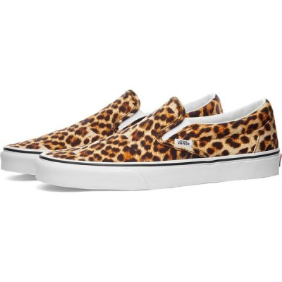ヴァンズ Vans メンズ スニーカー シューズ・靴 UA Classic Slip-On Leopard Black/True White