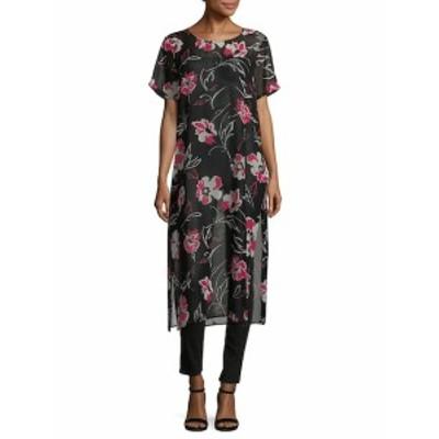 カルバンクライン レディース ワンピース Floral Side-Slit Tunic Dress