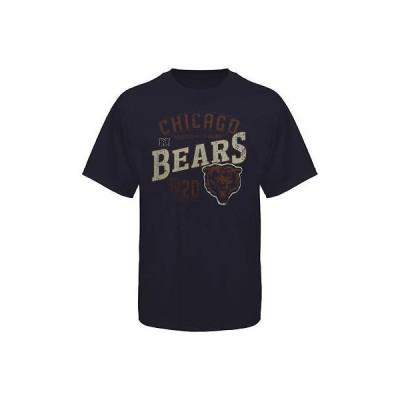フットボール NFL アメリカ USA 全米 メジャー マジェスティック Chicago Bears Line to Gain T Shirt Navy Blue