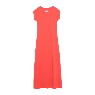 メルシー ..,MERCI ロングワンピース&ドレス レッド M コットン 94% / ポリウレタン 6% ロングワンピース&ドレス