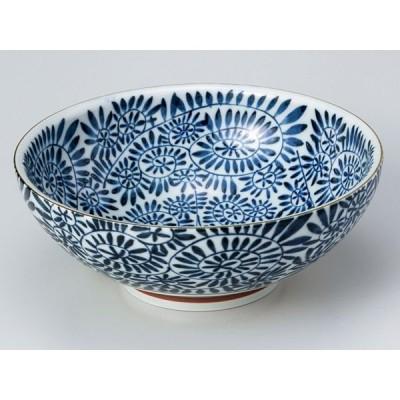 どんぶり 鉢 食器/  藍染タコ唐草 麺鉢 /お好み丼 ラーメン そば うどん 多用丼 業務用