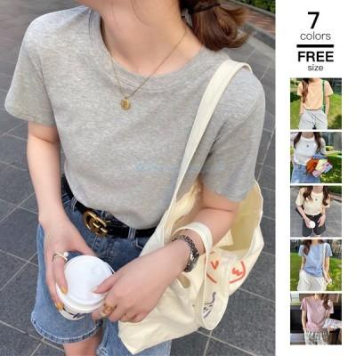 トップス カットソー レディース Tシャツ 無地 体型カバー ドルマン 大きいサイズ 30代 40代 夏