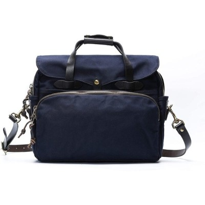 7am Rugged Twill Padded Briefcases & Computer Bags (Navy Blue) 並行輸入品