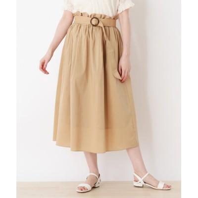 SHOO・LA・RUE / ベルテッドタックフレアロングスカート WOMEN スカート > スカート