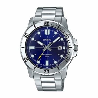 腕時計  カシオ MTP-VD01D-2EV メンズ エンティカー ステンレススチール ブルーダイヤル カジュアル アナログ スポーティウォッチ