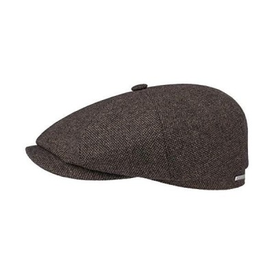 Stetson Hatteras Wool Mix Flat Cap Men Brown 7 7/8