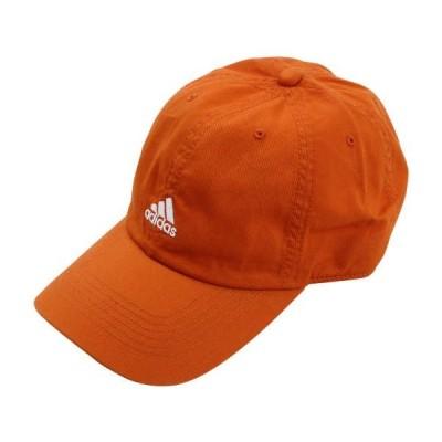綿ツイルキャップ 大きいサイズ メンズ adidas  オレンジ