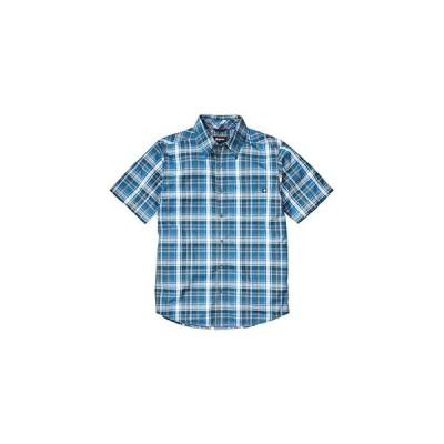 マーモット Lykken Short Sleeve Shirt メンズ シャツ トップス Varsity Blue