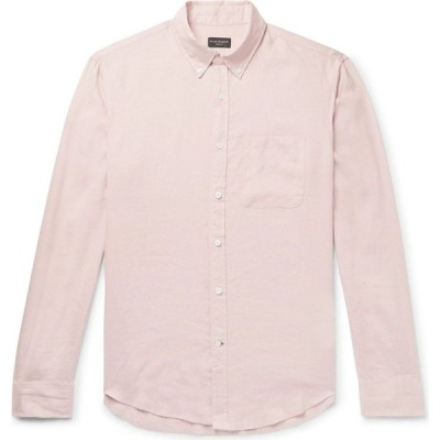 クラブ モナコ CLUB MONACO メンズ シャツ トップス linen shirt Light pink