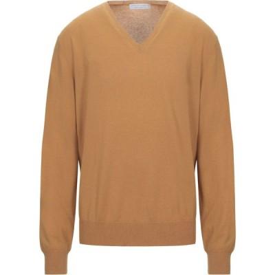 フィリッポ デ ローレンティス FILIPPO DE LAURENTIIS メンズ ニット・セーター トップス cashmere blend Ocher