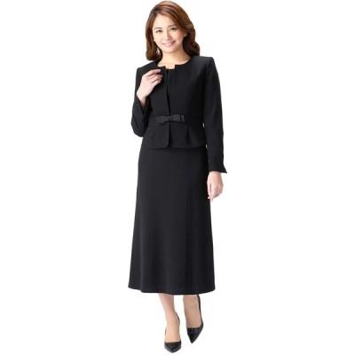 (マーガレット)marguerite m454 スーツ レディース ロング ブラックフォーマル 喪服 アンサンブル 礼服