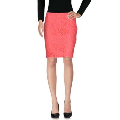 VDP COLLECTION ひざ丈スカート コーラル 42 コットン 85% / ナイロン 15% ひざ丈スカート