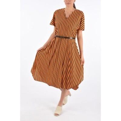 MAX MARA/マックス マーラ Orange レディース STUDIO Popeline Awning Striped SONNI Dress dk