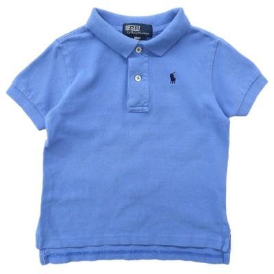キッズ ラルフローレン Polo Ralph Lauren ポロシャツ ワンポイント サックスブルー サイズ表記:24M