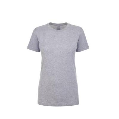 レディース 衣類 トップス Next Level NL3900 - Women's Boyfriend Tee X-Small Heather Gray Tシャツ