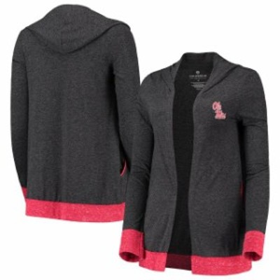 Colosseum コロセウム スポーツ用品  Colosseum Ole Miss Rebels Womens Charcoal Steeplechase Open Tri-Blend Cardigan with Hood