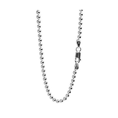 新宿銀の蔵 ボールチェーン 太め 長さ40〜80cm (40cm) 幅3.0mm シルバー 925 ネックレス チェーン