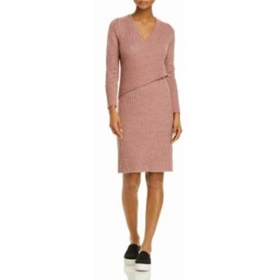 ファッション ドレス C/MED COLLECTIVE NEW Pink Womens Size Large L Rib Knit Sweater Dress