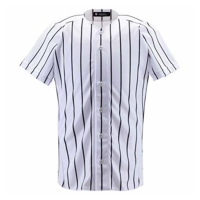 デサント 野球・ソフトボール用ユニフォームシャツ(SWBK・サイズ:XO) DESCENTE フルオープンシャツ(ワイドストライプ) DS-DB6000-SWBK-XO 返品種別A