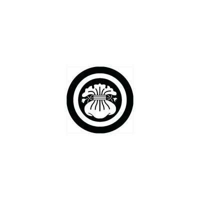 家紋シール 丸にいの字紋 直径15cm 丸型 白紋 KS15M-0391W