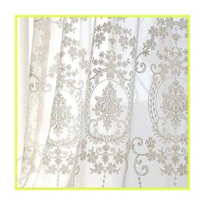 ヨーロッパ 刺繍 レースカーテン アイレット,白 窓 レースカーテン,ライトフィルタリング 花 白い-アイ