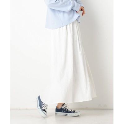 【アルシーヴ】 ドビーギャザースカート レディース オフホワイト M archives