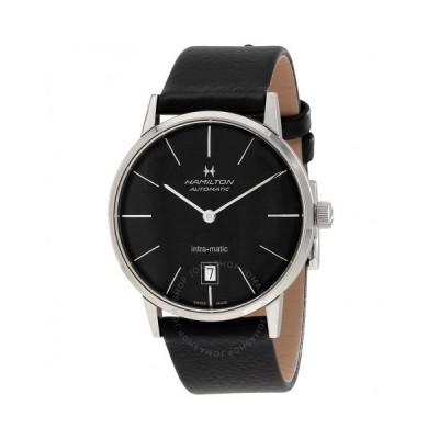 Hamilton/ハミルトン メンズ 腕時計 Intra-Matic Black Dial 革製 メンズ Watch H38455731