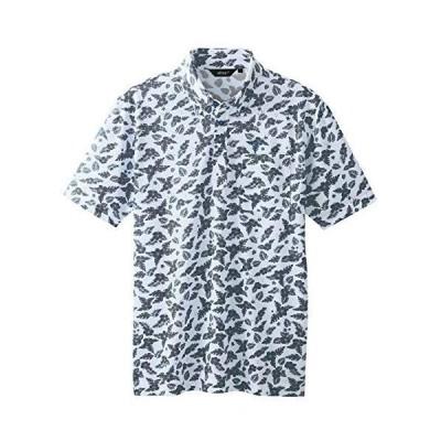 アイトス AITOZ ボタンダウンアロハ柄半袖ポロシャツ(男女兼用) AZ56111 004 グレー M