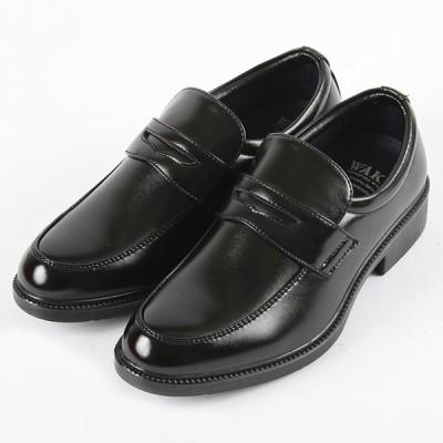 WAKA メンズ ローファー 97104 ブラック 24.5cm〜29cm  靴 シューズ