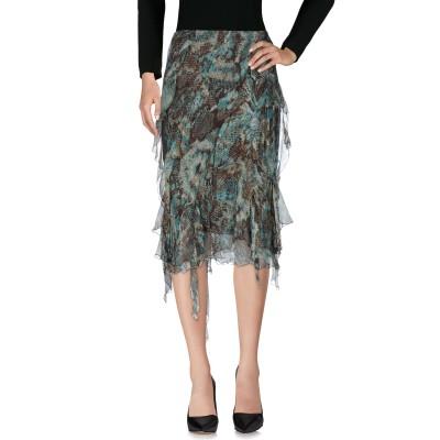 CLIPS 7分丈スカート ディープジェード 42 シルク 100% 7分丈スカート